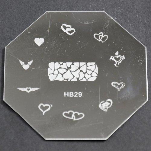 Nail Art emboutissage des tôles - HB29 CODE : HB29-plaque