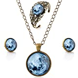 lureme® Zeit Gem Series Jahrgang Earth Pendant Halskette Stud Ohrringe Hollow Blume Armreif Schmuck-Sets (09000614)