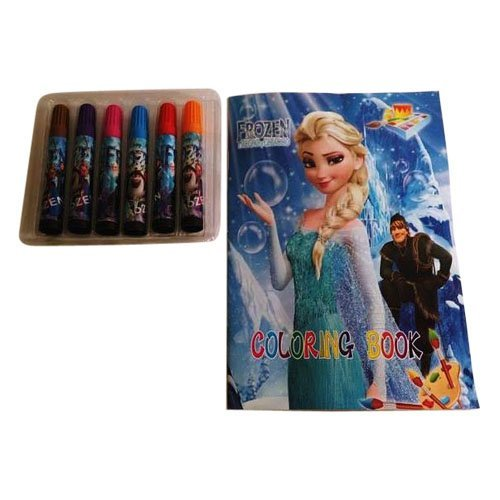 Funcart Frozen theme Coloring book with Sketch Pen Set  available at amazon for Rs.199