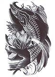 Hb-043 - Flash Tattoo en noir et blanc autocollant temporaire Corps temporaire Autocollants gothique Gotik Est Tattoo Exotique Feuille d'autocollant noir et blanc East Pour Hommes Femmes