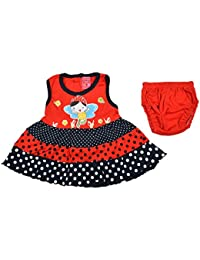 Newborn baby Infant Girl Frock Dress with Bloomer Set