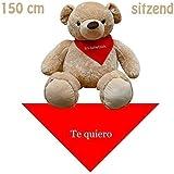 150 cm XXL Peluche Osito gigante Oso De Peluche sentado Paño Te quiero