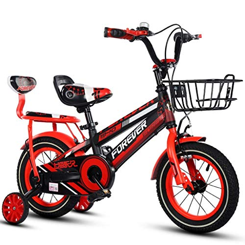 HYCy Children's Bicycle, Boy Bike, 16 Inch, Suitable for 4-8 Years Old Boy, with Comfortable Back Seat