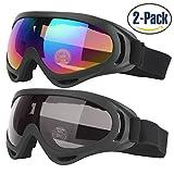 2 pezzi occhiali da sci con UV400 Protezione Antivento...