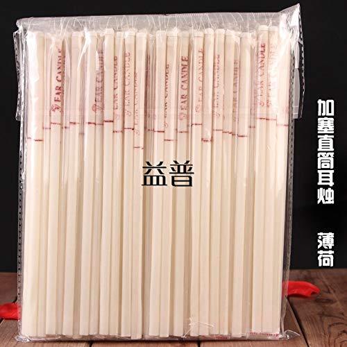 Ohrkerzenhorn Plus Stopper Aromatherapie Spa Straight Tube Kerzenhalter 50 Paar Plug Straight Ear Candle (Mint)