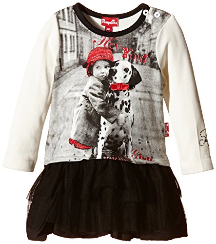 Pampolina Baby - Mädchen, Kleid, Dress 1/1 Sleeves, GR. 86 (Herstellergröße:80), Beige (Pampolina Baby-mädchen)