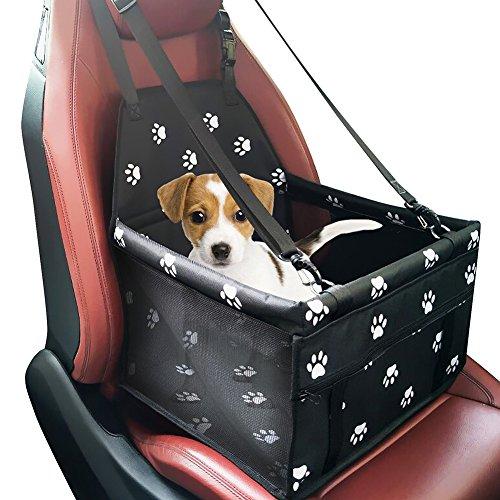 Yzcx seggiolino auto per cane coprisedile impermeabile animale vettore borsa per cani trasportino borsa pieghevole con cinghie di sicurezza 40 x 30 x 25 cm