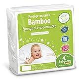 Babysom - Protège Matelas/Alèse Bébé - Bamboo - 70x140 cm - Imperméable - Doux...