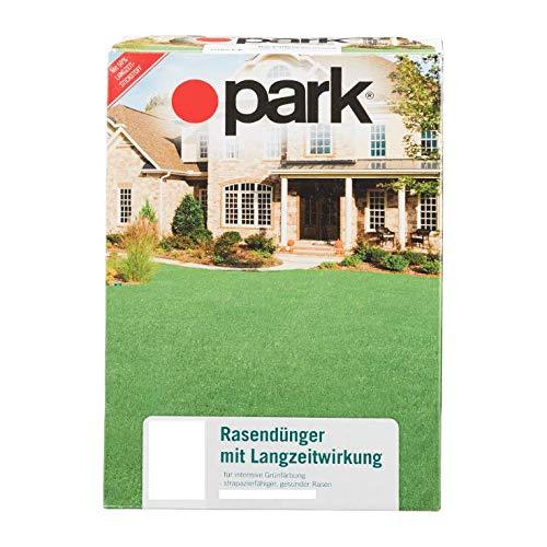 Park Rasendünger für ca. 390qm Langzeitwirkung Rasen Dünger 9 Kg (Lieferung 3 x 3 kg) für ca. 390qm