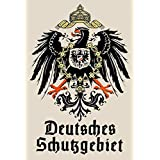 Schatzmix Blechschild Retro Deutsches Schutzgebiet Metallschild Deko 20x30cm tin Sign FA0421, Blech, Mehrfarbig, 20x30 cm