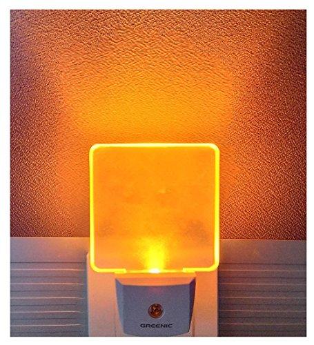 2 Stück 0.5W LED Nachtlicht Steckdose mit Dämmerungssensor für Kinderzimmer, Eurostecker,Warmweiß/Gelb