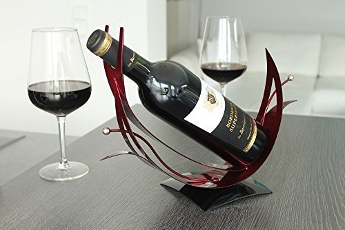 Gilde Flaschenhalter Grapes Vino schwarz, rot