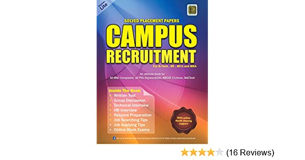 Buy Solved Placement Papers Campus Recruitment (Version Lite
