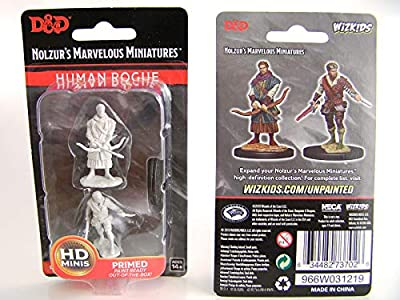Dungeons & Dragons Nolzur's Unpainted Miniatures W9 Male Human Rogue Figure