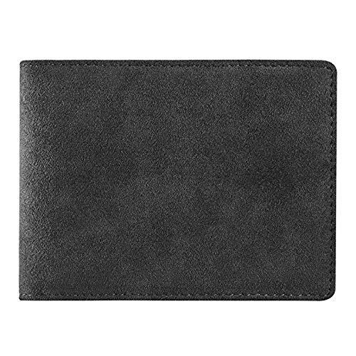 Premium Alcantara Kreditkarten-Etui mit Sportwagen Logo Visiten-Karten-Wallet, Business-Card (BMW M) - Wildleder Portemonnaie