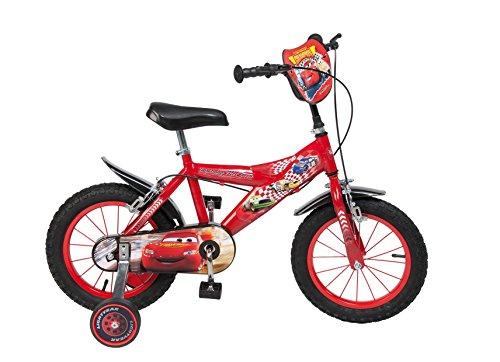 """Toimsa - Bicicletta per bambini dai 4 ai 7 anni, 14"""", motivo: Cars"""