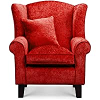 Amazon Co Uk Red Armchairs Chairs Home Kitchen
