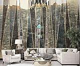 VVBIHUAING 3D Wandbilder Aufkleber Wand Dekorationen Tapete Geometrische Linien Der Städtischen Architektur Bar Kunst Kinder Zimmer (W) 400x(H) 280cm