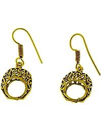 83a811b75087 Chic-Net Pendientes círculo filo espiral hueca de bronce óvalo oscuro níquel  oro antiguo libre