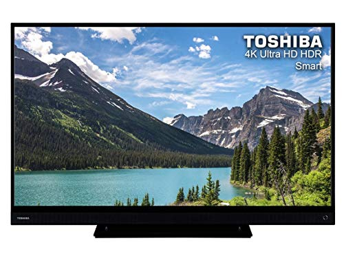 Toshiba 55T6863DB 55 Inch SMART 4K Ultra HD HDR LED TV Freeview Play Black (Refurbished)