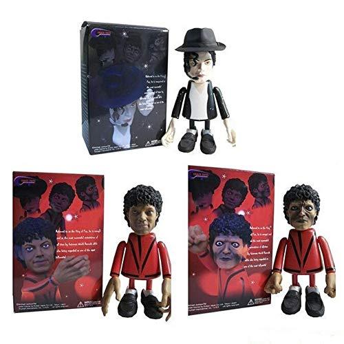 SONGDP Anime Charakter 3 Stücke Q Version Michael Jackson Puppen Anime Film Modell Bewegliche Statue Dekorationen/Geburtstagsgeschenk Anime Anzug