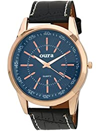 Oura Analouge Black Round Dial Men's & Boys Watch