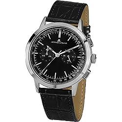 Jacques Lemans Nostalgie N-204A Men's Black Leather Strap Watch