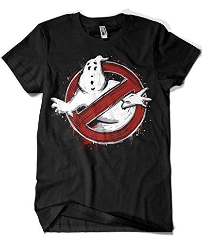 Camisetas La Colmena 1145-Parodie Ghostbusters T-Shirt (Légendaire P,),Noir,XL