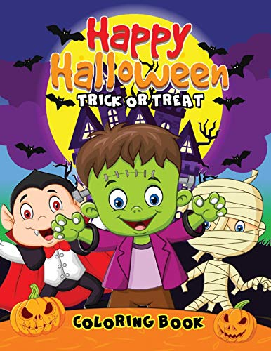 Happy Halloween Coloring Book: Easy and Fun Activity Book for Kids