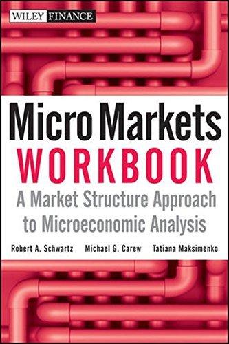 Micro Markets Workbook: A Market Structure Approach to Microeconomic Analysis by Robert A. Schwartz (2010-05-03)