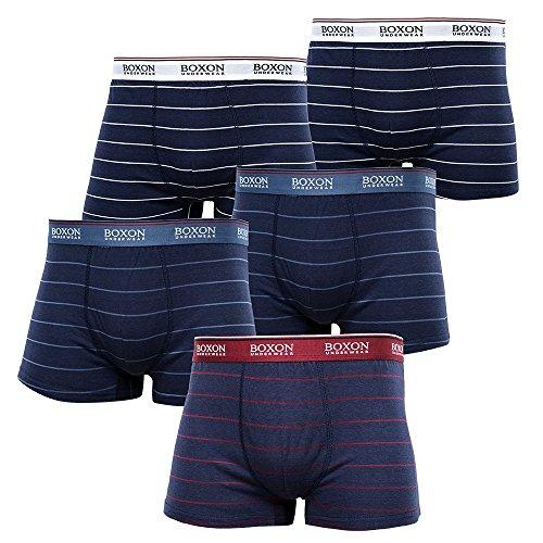 Boxon 5er Pack Boxershorts Men/Herren I Retroshorts/Retro Shorts I Unterhosen für Männer (Slim fit. Für mehr Komfort eine Nummer größer bestellen!!) - Herren-unterwäsche-ziel