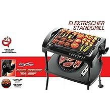 Barbacoa eléctrica de tacto frío, grill de mesa con 2.000 W de potencia, Standgrill