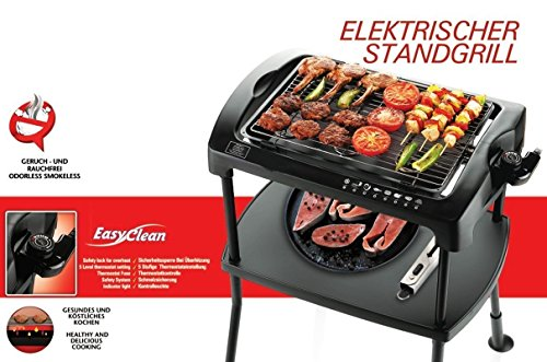 BBQ Barbeque Elektrogrill standgrill Cool-Touch 2000W Elektrischer Tischgrill Elektrogrill BBQ-Grill Partygrill Balkongrill (Standgrill)
