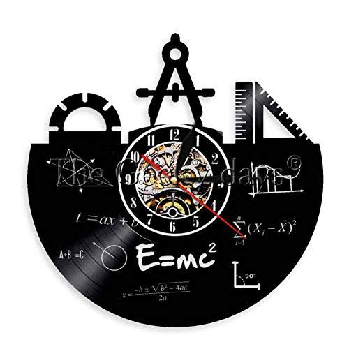 Wanduhr Schule Bildung Schallplatte Wanduhr Ingenieur Dekorative Stempeluhr Mathematik Uhr 12 Zoll ()