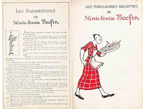 Les meilleures recettes de Marie-Louise Becfin : 11 fiches - Les plats régionaux (périgourdine, tourangelle, parisienne, bressanne, provençale, alsacienne, lorraine, gasconne, bretonne, normande, languedocienne)