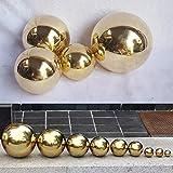 Edelstahl Blick Ball, 6cm kleine Blick Ball Ball Spiegel Tischplatte Weihnachten Hausgarten Ornament, Funken Gold