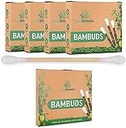EcoShoots 400 o 1000 bastoncillos de algodón de bambú | 4x100 Bambuds Orgánicos | Embalaje sin plástico recicl