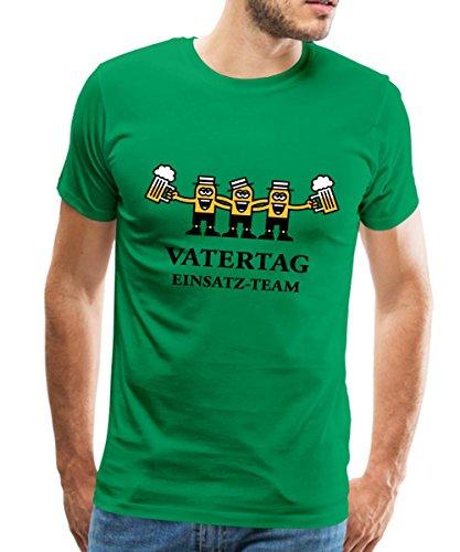 Spreadshirt Vatertag Einsatz-Team Männer Premium T-Shirt, 5XL, Kelly Green (Das Trinken Green T-shirt Von Team)