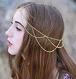 Yean Gothic Kopfbedeckung Kopf Kette Kopfschmuck Schmuck für Frauen und Mädchen