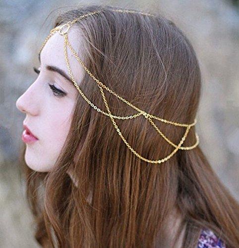 Yean gótico cabeza cabeza tocado cadena joyería para las mujeres y las niñas