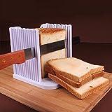JINZA Manuelle Aufschnitt Toast Brotschneidemaschine Kunststoff ABS Backwerkzeuge Kuchen Laib Splitter Frühstück Set Haushalt Küche Zubehör