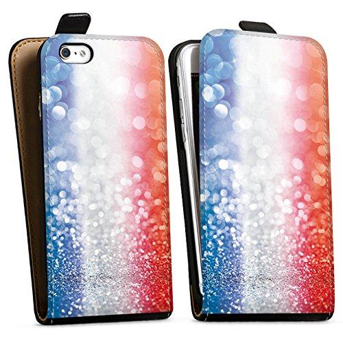 Apple iPhone X Silikon Hülle Case Schutzhülle Frankfreich Glitzer Flagge Downflip Tasche schwarz