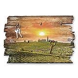 Kreative Feder Toskana Designer Schlüsselbrett, Hakenleiste Landhaus Style, Shabby aus Holz 30x20cm, HSB095