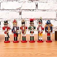 KOBWA Regalo del Soldado del Cascanueces De La Navidad, Soldado del Cascanueces, Regalos De La Marioneta De Los Soldados, Juguete De La Marioneta De Las Figuras del Cascanueces De Madera