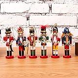KOBWA Regalo del Soldado del Cascanueces De La Navidad, Soldado del Cascanueces, Regalos De La Marioneta De Los Soldados, Juguete De La Marioneta De Las Figuras del...