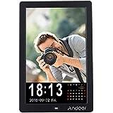 Andoer 12 LED HD Photo Photos Cadre digitale1280 * 800 Frame Desktop Support MP3/MP4/eBook/Calendrier/Réveil avec télécommande + Andoer 16 Go Classe 10 Carte mémoire + lecteur de cartes