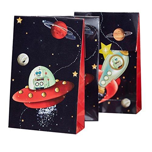Ginger Ray & Spaceship Roboter-Kinder-Party-Taschen - Space-Abenteuer-Partei
