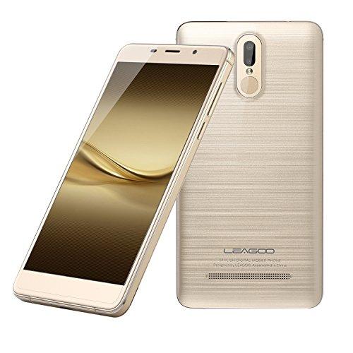 LEAGOO M8 Pro - Smartphone Libre 4G de 5.7''HD - Cámara Trasera Dual Sensor de Huella Digital, oro champaña