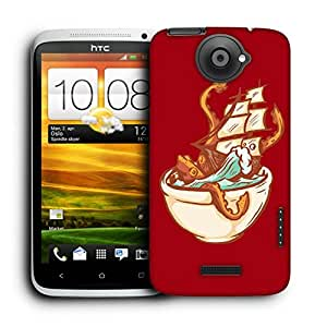Snoogg Boat In Bowl Designer Protective Back Case Cover For HTC ONE X