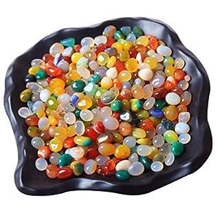 ACEVER Carnelian Banded Agate Gemstone Tumbled Polished Pebble Stones (Size-color-ZT01)